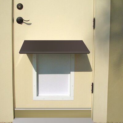 Universal Pet Door Awning Color: Bronze