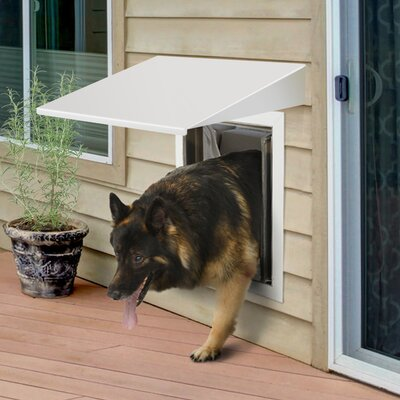 PlexiDor Performance Pet Doors Large Wall Series Bundle Color: White