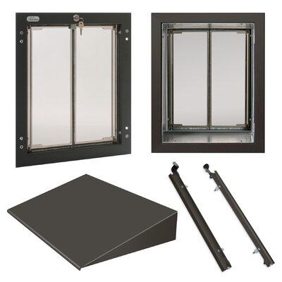 PlexiDor Performance Pet Doors Large Wall Series Bundle Color: Bronze