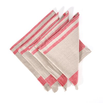 Linen Napkin Color: Red