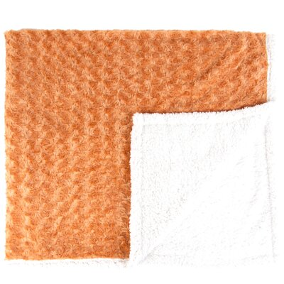 Twisted Fur and Sherpa Throw Blanket Color: Apricot