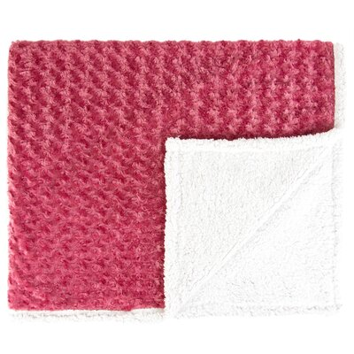 Twisted Fur and Sherpa Throw Blanket Color: Raspberry