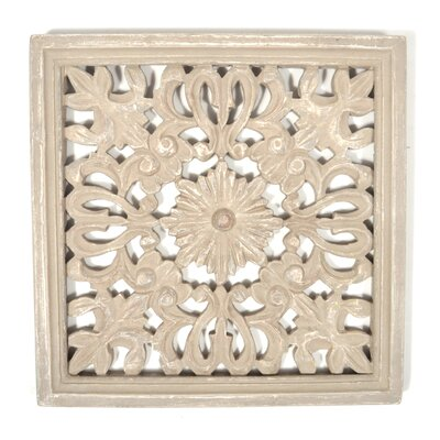 Idella Indian Wooden Panel Wall Decor Color: Grey