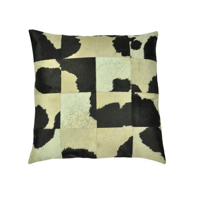 Cowhide Patchwork Leather Throw Pillow