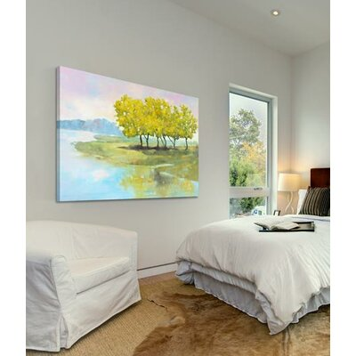 'Lyndhurst Water I' Oil Painting Print on Wrapped Canvas