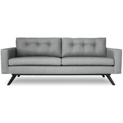 Shirley Sofa Color: Wales Navy, Finish: Oak