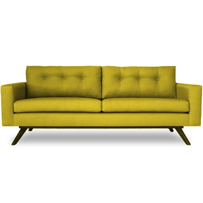 Shirley Sofa Finish: Walnut, Color: Klein Wheatgrass