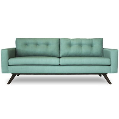 Shirley Sofa Finish: Walnut, Color: Klein Laguna