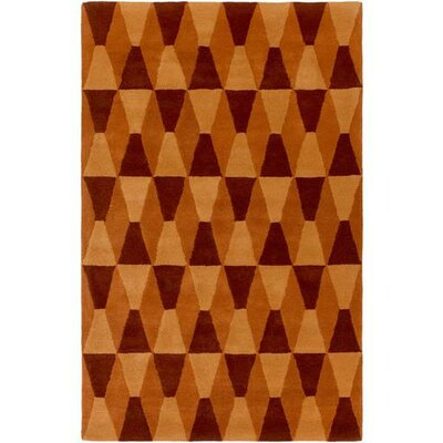 Mod Pop Burnt Orange/Rust Area Rug Rug Size: Rectangle 5 x 76