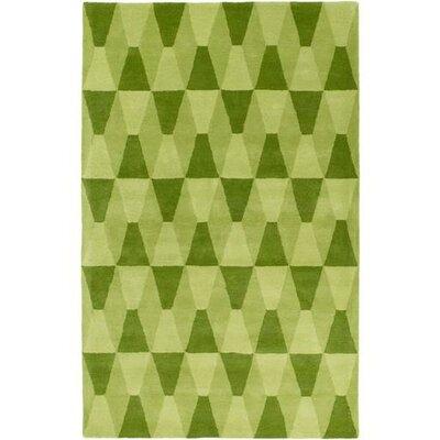 Mod Pop Sea Foam/Lime Area Rug Rug Size: Rectangle 5 x 76