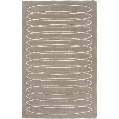 Solid Bold Taupe Area Rug Rug Size: Rectangle 4' x 6'