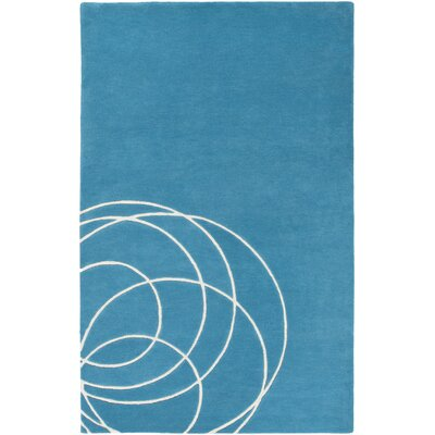 Solid Bold Teal Area Rug Rug Size: Rectangle 5' x 7'6