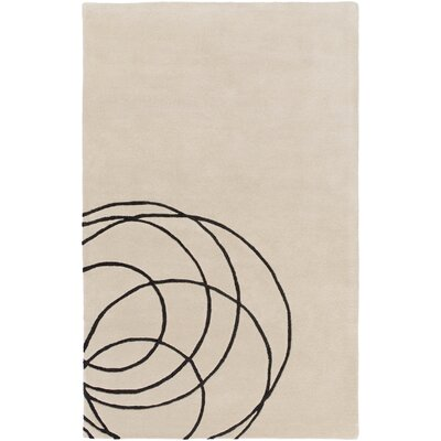Amesbury Hand-Tufted Beige Area Rug Rug Size: Rectangle 5 x 76