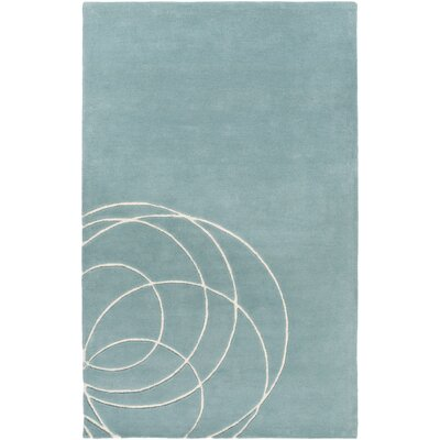 Solid Bold Hand-Tufted Blue Area Rug Rug Size: Rectangle 5 x 76