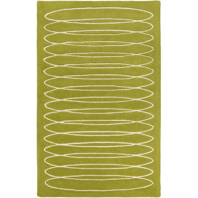 Solid Bold Moss Area Rug Rug Size: Rectangle 5 x 76