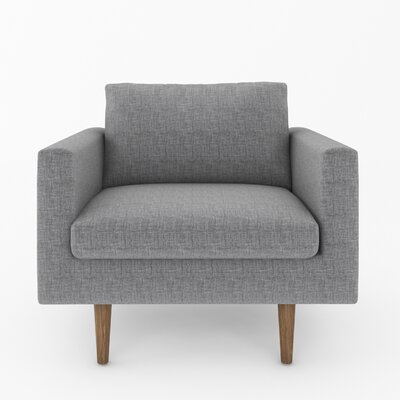 Brady Armchair Color: Sand Grey