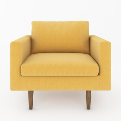 Brady Arm Chair Color: Belfast Gold