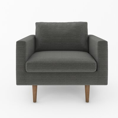 Brady Armchair Color: Klein Charcoal