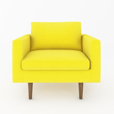 Brady Arm Chair Color: Klein Sunny