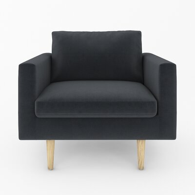 Brady Arm Chair Color: Klein Black