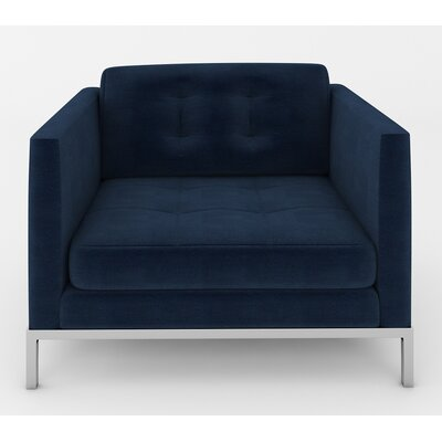 Jack Arm Chair Color: Luxor Navy