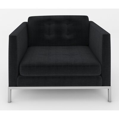 Jack Armchair Color: Malagna Black