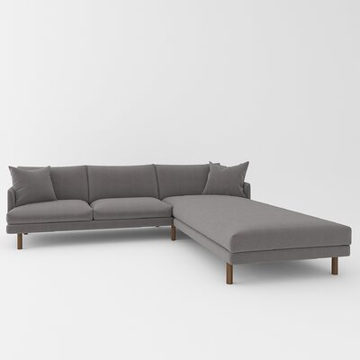 Tabitha Sectional Upholstery: Wales Gray