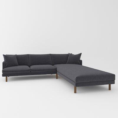 Tabitha Sectional Upholstery: Belfast Charcoal