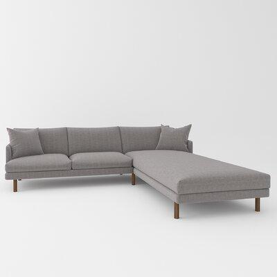 Tabitha Sectional Upholstery: Belfast Gray