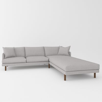 Tabitha Sectional Upholstery: Bella Gray
