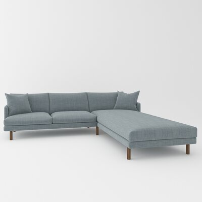 Tabitha Sectional Upholstery: Blue Bird