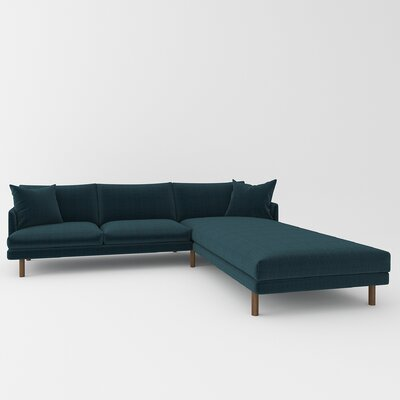 Tabitha Sectional Upholstery: Cassandra Turquoise