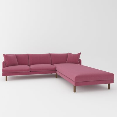 Tabitha Sectional Upholstery: Dusty Pink
