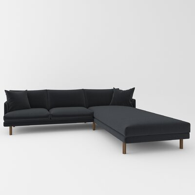 Tabitha Sectional Upholstery: Klein Black