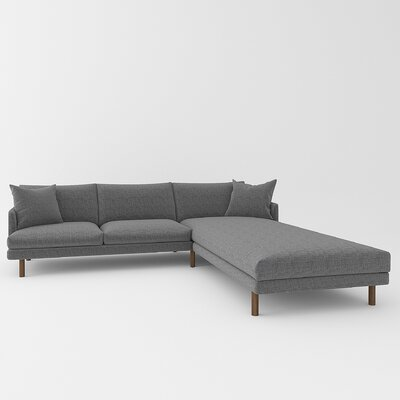 Tabitha Sectional Upholstery: Sand Gray