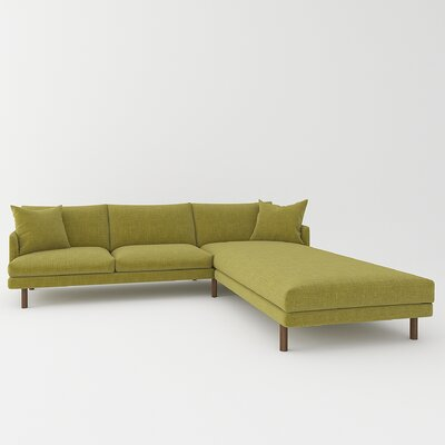 Tabitha Sectional Upholstery: Parrot Green