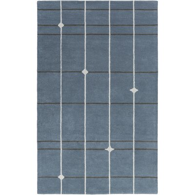 Mod Pop Hand-Tufted Gray/Blue Area Rug Rug Size: 2 x 3