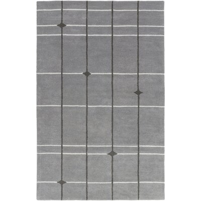 Mod Pop Hand-Tufted Gray Area Rug Rug Size: Rectangle 5 x 76
