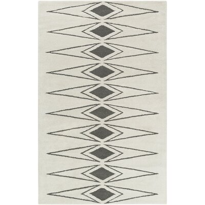 Hand-Tufted Beige/Gray Area Rug Rug Size: Rectangle 4 x 6
