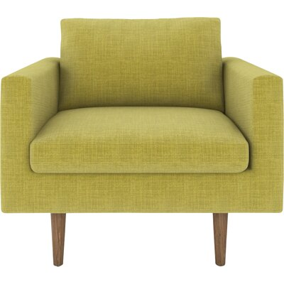 Brady Armchair Body Fabric: Parrot, Leg Color: Walnut