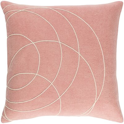 Bold Wool Pillow Cover Color: Pink