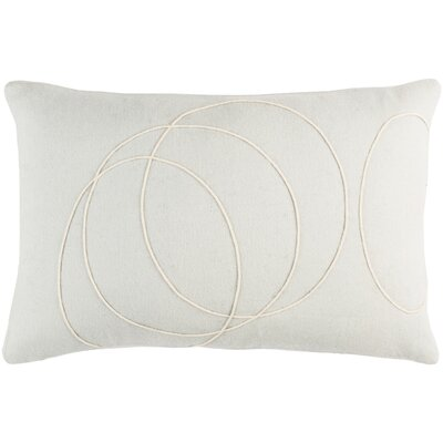 Bold Wool Lumbar Pillow Color: Light Gray/cream