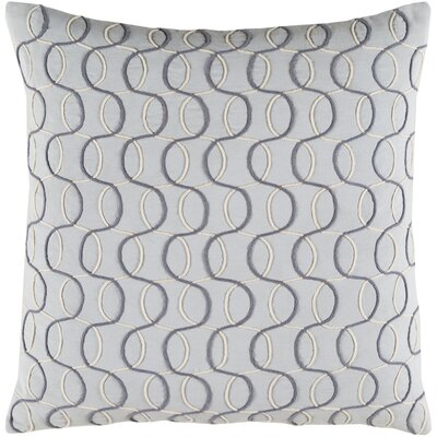 Solid Bold II Cotton Lumbar Pillow Color: Gray, Size: 18 H x 18 W x 4 D, Fill Material: Polyester