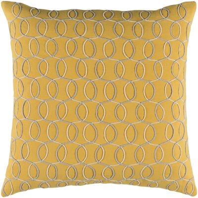 Solid Bold II Cotton Lumbar Pillow Color: Yellow, Size: 18 H x 18 W x 4 D, Fill Material: Polyester