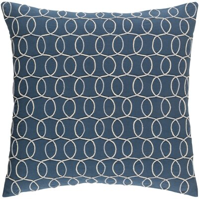 Solid Bold II Cotton Lumbar Pillow Color: Blue, Size: 18 H x 18 W x 4 D, Fill Material: Down