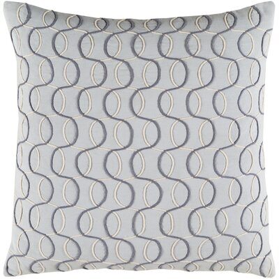 Bold Pillow Cover Size: 22 H x 22 W x 5 D, Color: Gray