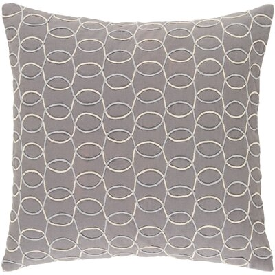 Bold 100% Cotton Pillow Cover Size: 22 H x 22 W x 5 D, Color: GrayNeutral