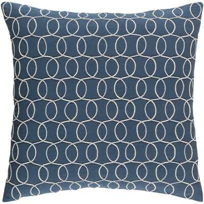 Bold 100% Cotton Pillow Cover Size: 22 H x 22 W x 5 D, Color: BlueGray