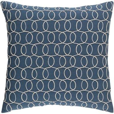 Bold 100% Cotton Pillow Cover Size: 22 H x 22 W x 5 D, Color: BlueGray