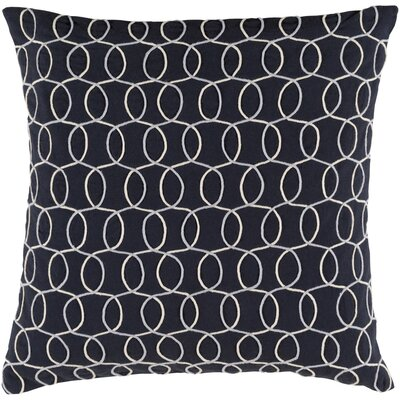 Bold 100% Cotton Pillow Cover Size: 20 H x 20 W x 5 D, Color: BlackGray